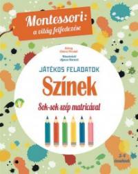Színek - játékos feladatok, Montessori